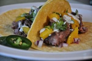 street tacos beside
